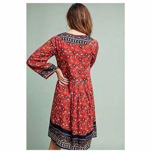 Anthropologie Dresses - Anthropolgie Sierra embroidered dress
